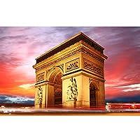 QMGLBG 5Dダイヤモンド塗装建築風景ダイヤモンド絵画大人の工芸品クリスタルラインストーン壁装飾アート40*50cm