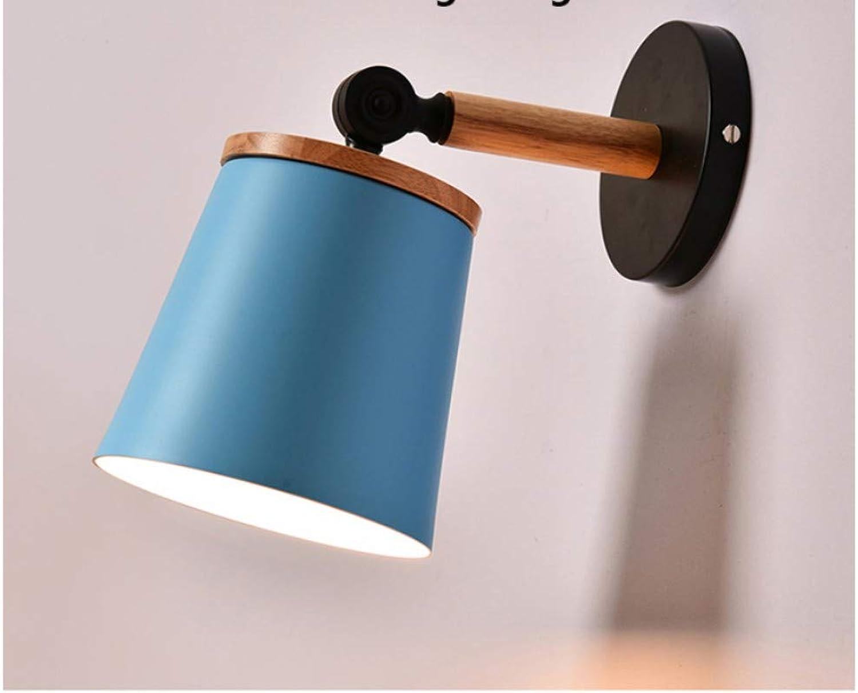 Aussenlampe Wandbeleuchtung Wandlampe Wandleuchte Innen Innenwandleuchte Moderne Holz Wandleuchte Macarons Bunte Nachttischlampen Licht Korridor Treppenleuchte Home Deco