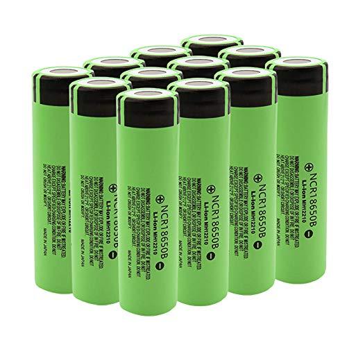 2 Stück 18650B 18650 Batterie 3,7 V 3400 mAh Li-Ionen-Akku, verwendet für Taschenlampe Mobile Elektrowerkzeug Taschenlampe 18650 Batterie