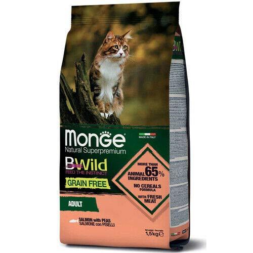 Monge BWild Grain Free Adult Cat Salmon with Peas 1.5 kg