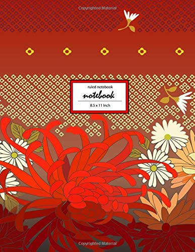 Notebook: Lovely Pattern DD2 - Ruled Notebook - (8.5 x 11 inches) Large - 110 Pages