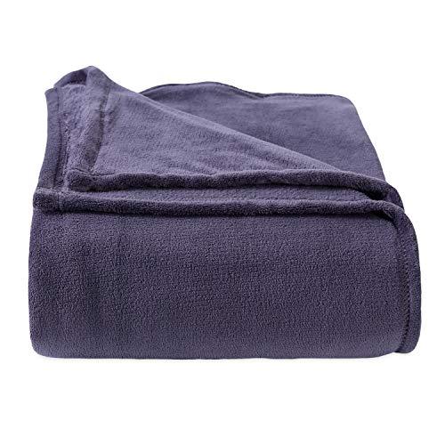 Berkshire Blanket Serasoft Polartec Warmth Technology Luxury Super Soft Cozy Plush Blanket, Graphite, King