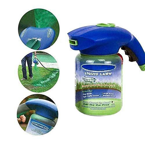 ZTGHS Hydro Mousse Flüssiges Rasen, Rasensamen Spray Kunststoff Gießkanne Für Saatgut Rasenpflege Grasaufnahme Haushalt Seeding-System