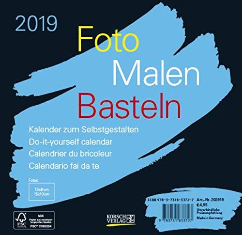 FMB schwarz 16 x 15,5 268919 2019: Fotokalender zum Selbstgestalten. Do-it-yourself Kalender mit festem Fotokarton. Format: 16 x 15,5 cm