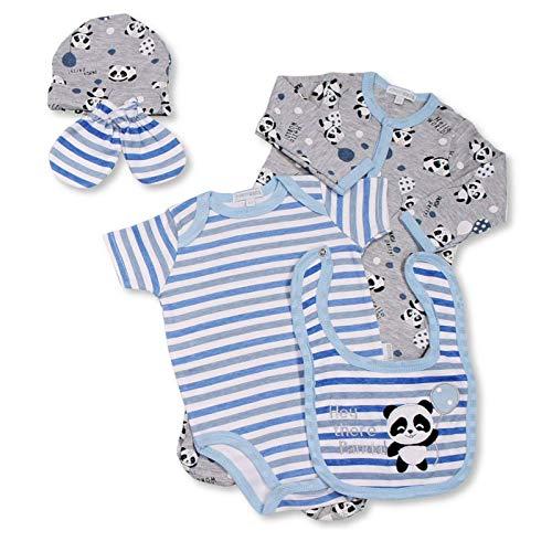 Juego de pijamas, juego de regalo para niños y niñas, ropa de algodón puro, pijama (azul, 3-6 meses)