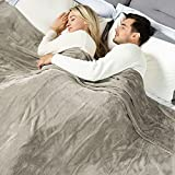 [New] WOOMER King Size 100'x 90' Electric Heated Throw Blanket, Dual Controllers, 10 Heat Levels & 0.5-12H Auto Off, Fast Heating, Over-Heat Protect, Machine Washable, 100% Soft Velvet, ETL Verified