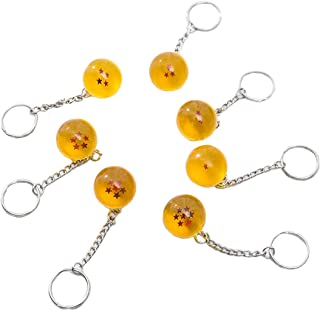 Anime Collectibles 7pcs/set 2.5cm Dragon Ball New In Bag 7 Stars Crystal Balls Keychain Pendant Unisex Stars Acrylic Transparent Play Balls