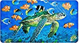 Yolife Non-Slip Bath Mat Shower Mat Bathroom Anti Slip Mat Antibacterial Plus Reinforced Suction Cups (Turtle)