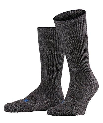 FALKE Unisex Socken Walkie Ergo - Merinowollmischung, 1 Paar, Grau (Smog 3150), Größe: 42-43