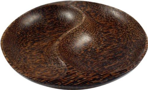 Guru-Shop Kokosholzschale Ying-Yang - Design 10, Braun, 3x17x17 cm, Schalen