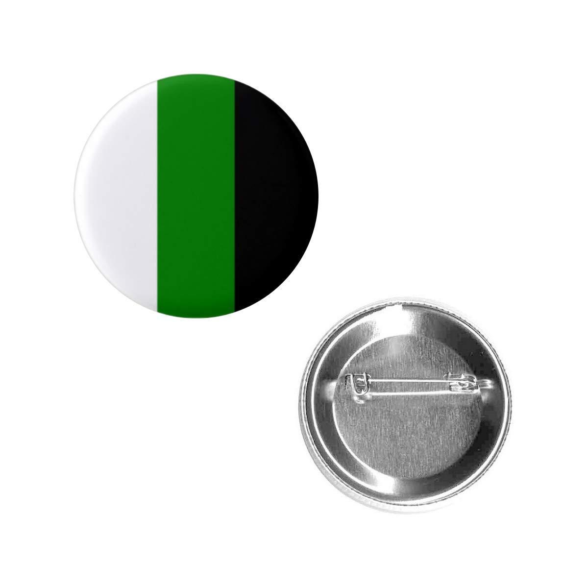 "Seasonal Wrap Introduction Neutrois 25% OFF Pride Flag Pin 1.5"" Metal Button Circle Round Shape"