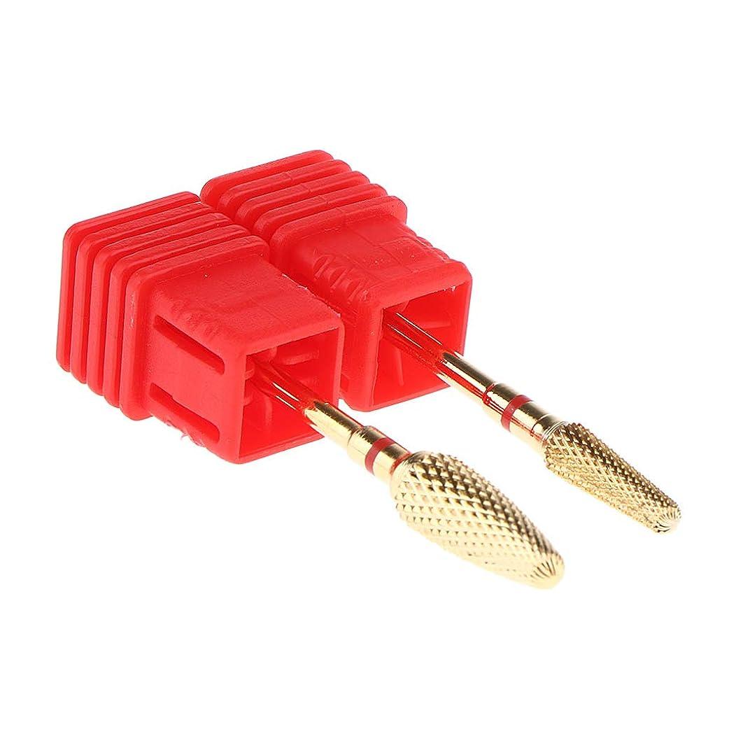 スキャンダラスすることになっている動物園SM SunniMix 2点入り 3色 ネイルアート ネイルドリル ビット ネイルケアツール 研削ヘッド 3色選択 - 赤