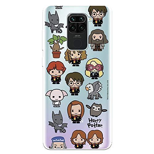 Funda para Xiaomi Redmi Note 9 Oficial de Harry Potter Personajes Iconos para Proteger tu móvil. Carcasa para Xiaomi de Silicona Flexible con Licencia Oficial de Harry Potter.