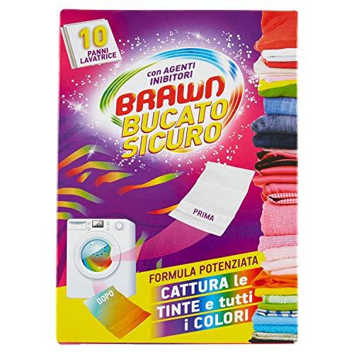 Brawn–BucatoSicuro - Paños atrapa color para lavadora con agentes inhibidores–10unidades