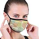 Maschera facciale riutilizzabile Campione foglia Copertura facciale lavabile traspirante Anti-polvere per ciclismo Sport all'aria aperta