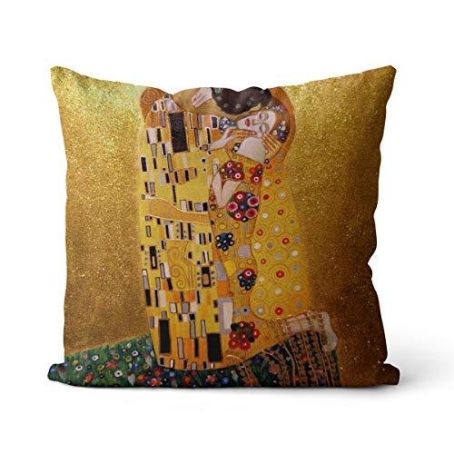 Fodera cuscino Kiss Klimt 40x40cm resistente alla luce, antivegetativa, anallergica con cerniera invisibile
