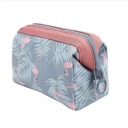 OFKPO Impermeable Maquillaje Bolsa/Viaje Lindo Cosmético Bolsa de Almacenamiento/de Artículos de Tocador Mujeres y Niña, Rosa (Flamingo)