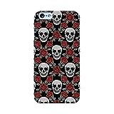 EREMITI JEWELS Cover Personalizzata con Immagine Pattern White Skulls And Red Roses per Smartphone iPhone 5 5C 6 6S 6 Plus 6S Plus 7 7PLUS 8 8PLUS X XR XS XSMAX (iPhone 7)