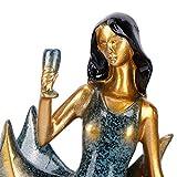 Wosune Casier à vin, Figurines Porte-Bouteilles de vin Fournitures pour la Maison Porte-vin, pour comptoir de Salon de société de Bureau(BS023-1 Blue Girl Wine Rack)