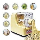 TGAICHO Máquina De Fideos Multifuncional, Máquina De Pasta Portátil para El Hogar, Máquina De Pasta De Espagueti, con 6 X Moldes Se Pueden Hacer Diferentes Tipos De Fideos