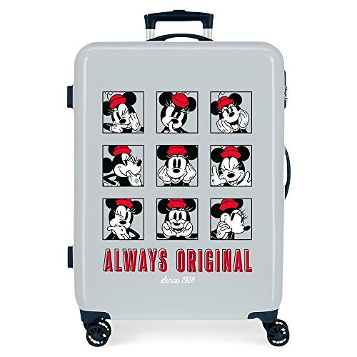 Disney Good Vives Only Medium Suitcase Blue 48 x 68 x 26 cm Rigid ABS Side Combination Closure 70L 2.7 kg 4 Double Wheels