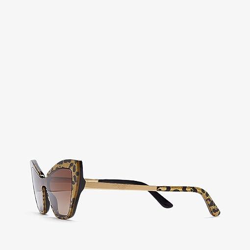Leopard Glitter Gold/Black/Brown Gradient