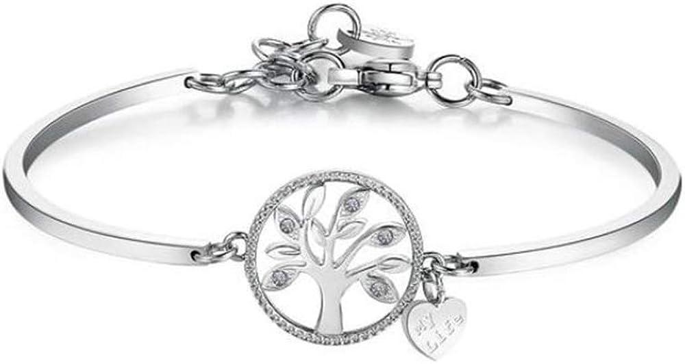Brosway albero della vita bracciale chakra per donna in acciaio 316l e cristalli swarovski BHK399
