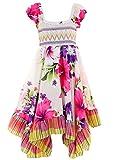 GILLSONZ Neu601vDa Mädchen Kinder Sommer Freizeit Kleid (98/104, Lila(601))