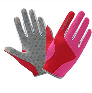 Sunscreen Quick-Drying Full Finger Gloves,Lightweight Fingerless Anti-Slip Gloves,Gym Gloves for Motorbike Hiking Hunting ...