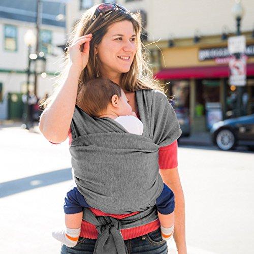 MTURE Babytragetuch, Babytrage für Männer und Frauen,Tragetuch Tragehilfe Sling Baby (Grau) - 3