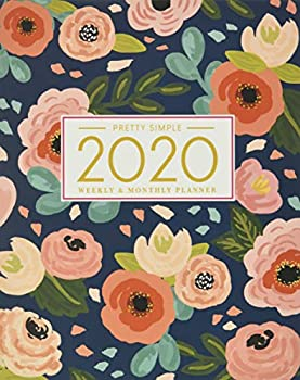2020 Planner Weekly and Monthly  January to December  Navy Floral Cover  2020 Pretty Simple Planners