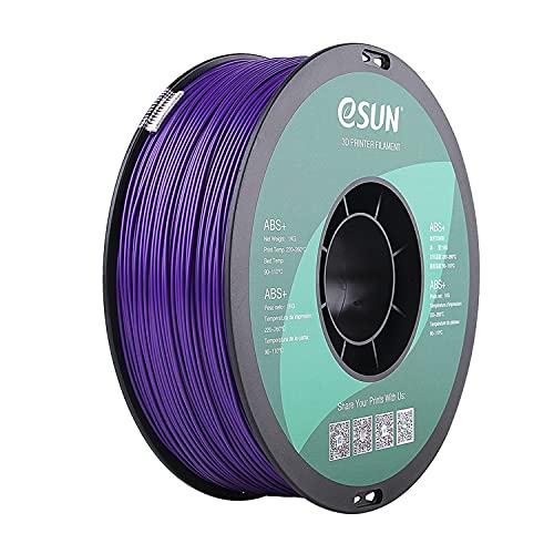 eSUN Filamento ABS+ 1.75mm, Impresora 3D Filamento ABS Plus, Precisión Dimensional +/- 0.05mm, 1KG (2.2 LBS) Carrete para Filamento de Impresión 3D, Púrpura