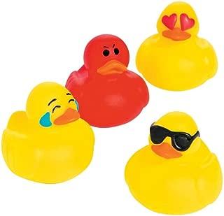 Emoticon Mini Rubber Duckies - 24 pc