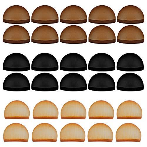 Tugaizi, confezione da 30 cuffie in nylon elastico per parrucca, calza della Befana per donne