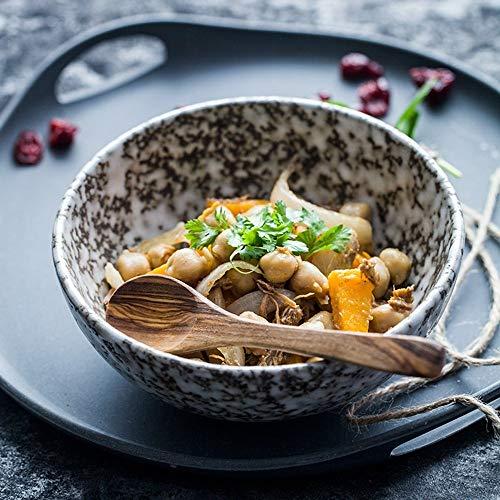 ZKAIAI Resistente al Calor Corea cerámica Creativa instantánea Bol Bol hogar Rice Bowl Noodle Bowl pequeño Plato de Sopa Japonesa Vajilla Tazón Linda