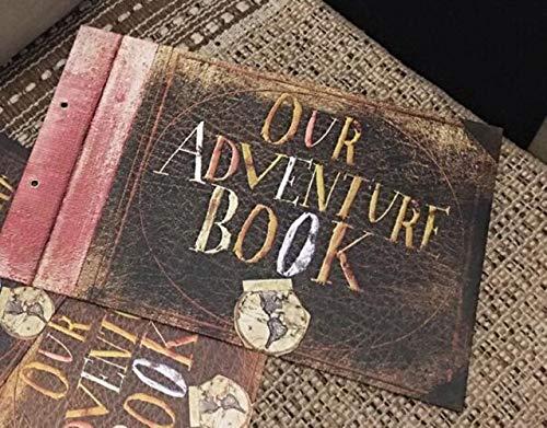 EDCV DIY Handgemaakte Cartoon Fotoalbum Avonturenboek Bruiloftstickers Scrapbooking Ons Mijn Plakboekalbum voor geschenken, Ons Adventure20vel