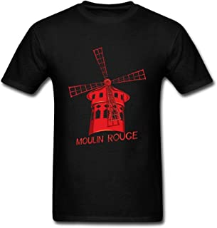 Wanenkser Cabaret Moulin Rouge in Paris France T Shirt for Men