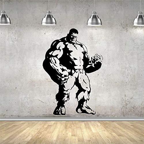 Película Vinilo Art Deco Mural Hombre fuerte Decoración de la pared Etiqueta de la pared del hogar