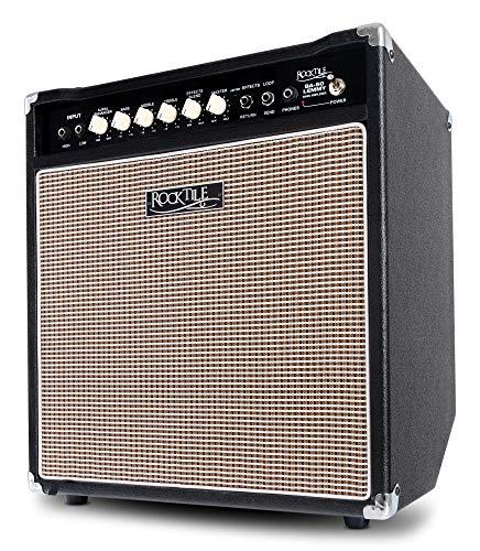 """Rocktile BA-50 Lemmy Basscombo (50 Watt, Kickback-Gehäuse, 12\"""" Speaker, mit Effektschleife und Limiter) schwarz"""