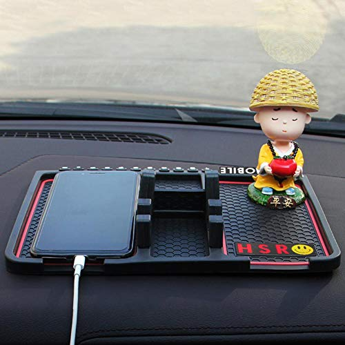 HSR Car Dashboard Phone/Key/Pen/Coin/Remote/Phone Navigation Holder Non-Slip Mat for Car and Office use