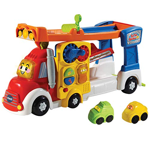 VTECH- Super Tráiler TutTut Bólidos Camión Portacoches Interactivo con Rampas De Tres Pisos, Multicolor, Talla Única (3480-521122) , color/modelo surtido