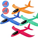 MIMIDOU 4 Pack Glider Plane Toys, 17.5' Large...