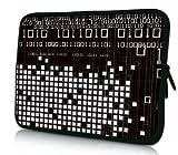 Luxburg® Design Laptoptasche Notebooktasche Sleeve für 13,3 Zoll (auch in 10,2 Zoll | 12,1 Zoll | 13,3 Zoll | 14,2 Zoll | 15,6 Zoll | 17,3 Zoll) , Motiv: Binärzahlen
