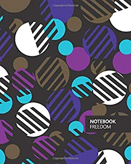 Freedom Notebook: (Purple Edition) Fun notebook 192 ruled/lined pages (8x10 inches / 20.3x25.4 cm / Large Jotter)