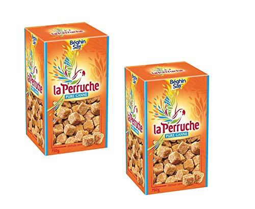 La Perruche braune Rohrzuckerwürfel, 2er Pack (2 x 750 g)