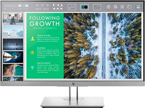 """HP - PC EliteDisplay E243 Monitor 23.8"""", Display FHD IPS Antiriflesso, Pannello BrightView, Micro-Edge, Regolabile Altezza fino 150mm, Pivoting 90°, Comandi integrati, DisplayPort, HDMI, VGA, Argento"""