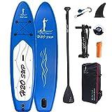 H2OSUP Stand Up Paddle Board Gonflable, 320x76x15 CM Sup Board, Planche de Sup en PVC Construction Ultra Robuste, Planches Paddle Gonflable pour Débutants et Professionnels