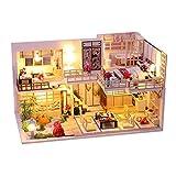 Miniatura con muebles de casa de muñecas, kit DIY Dollhouse de madera, así como el...