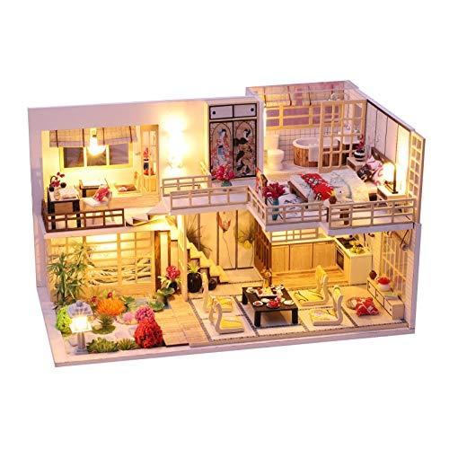 Miniatura con muebles de casa de muñecas, kit DIY Dollhouse de madera, así como el polvo, sala creativa, idea regalo de San Valentín