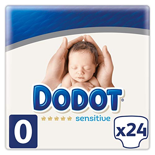 Dodot Protection Plus Sensitive Pañales Talla 0 (1.5 - 2.5 kg) - 2 x 24 Pañales